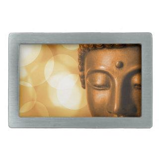 Golden Buddha Rectangular Belt Buckles