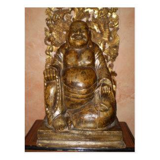 GOLDEN BUDDHA SCULPTURE POSTCARD
