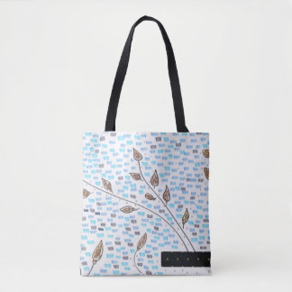 Golden buds illustration tote bag
