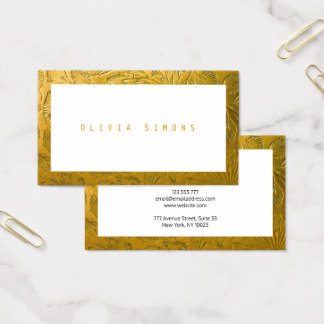 Golden Business Cards