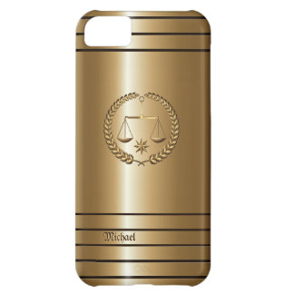 Golden Business & Legal Lawyer iPhone 5 C Case