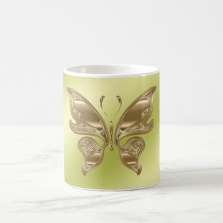 Golden butterfly coffee mug