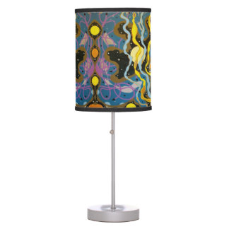 GOLDEN BUTTERFLY FISH CORRAL REEF TABLE LAMP