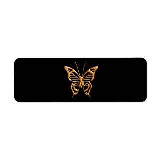 Golden Butterfly Custom Return Address Labels
