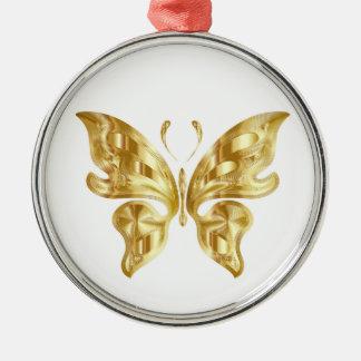 GOLDEN BUTTERFLY METAL ORNAMENT