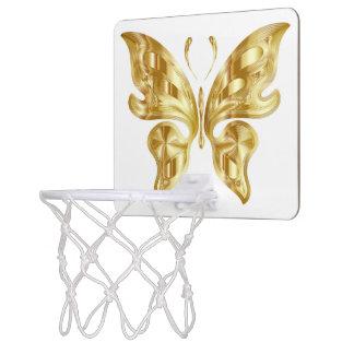 GOLDEN BUTTERFLY MINI BASKETBALL HOOP