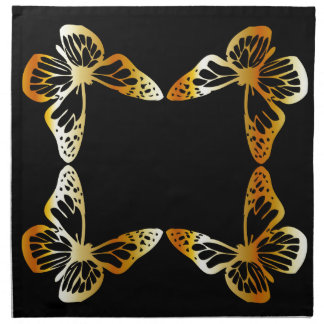 Golden butterfly napkin