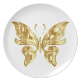 GOLDEN BUTTERFLY PLATE