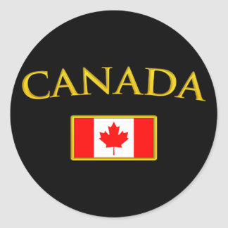 Golden Canada Classic Round Sticker