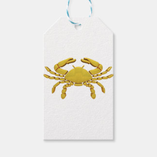 Golden Cancer Gift Tags