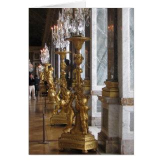 Golden Candelabras, Chateau de Versailles Card