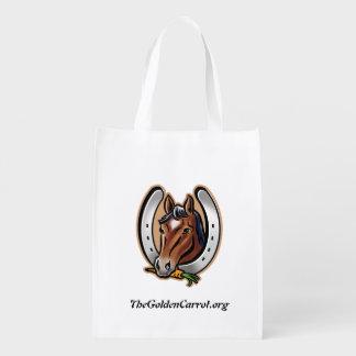 Golden Carrot LOGO Shopping Tote Reusable Grocery Bag