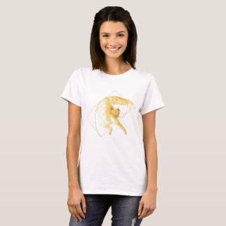 Golden Cat Ratio Yoga The Feline Fibonacci Stretch T-Shirt