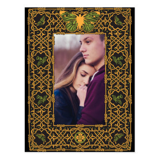 Golden Celtic Knot Save the Date Postcard