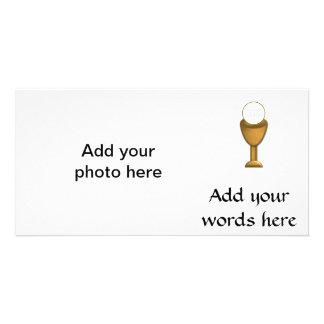 Golden Chalice and Host - Holy Communion Photo Card