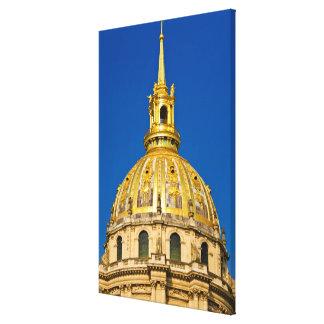Golden Chapel Dome, Paris, France Canvas Print