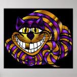 Golden Cheshire Cat Print