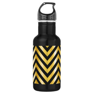 Golden chevron grandiose art deco 532 ml water bottle