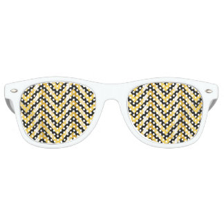 Golden chevron grandiose art deco retro sunglasses