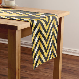 Golden chevron grandiose art deco short table runner