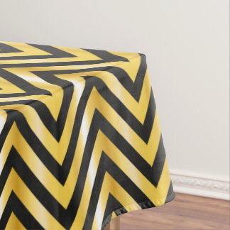 Golden chevron grandiose art deco tablecloth