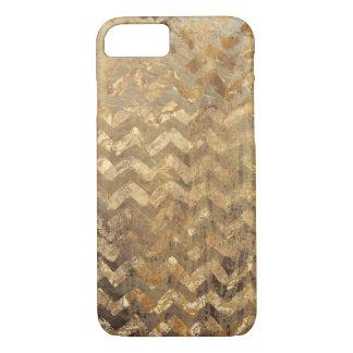 Golden Chevron Phone Case
