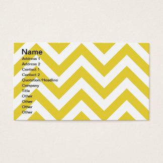 golden chevrons  zigzag pattern business card