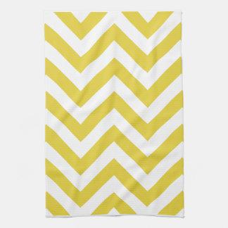 golden chevrons  zigzag pattern kitchen towel