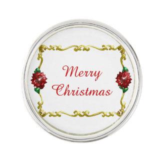 Golden Christmas #1 Lapel Pin