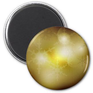 Golden Christmas Background Magnet