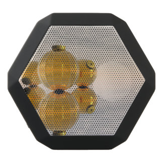 Golden Christmas balls - 3D render Black Bluetooth Speaker