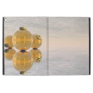 "Golden Christmas balls - 3D render iPad Pro 12.9"" Case"