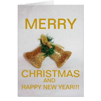 Golden Christmas Bell's Christmas CARD