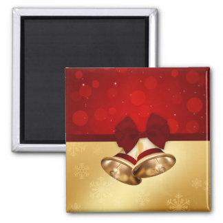 Golden Christmas Bells - Magnet