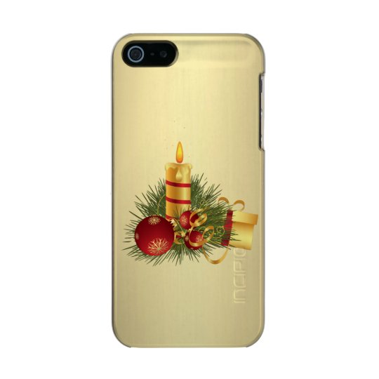 Golden Christmas Candle Incipio Feather® Shine iPhone 5 Case