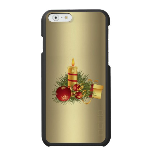Golden Christmas Candle Incipio Watson™ iPhone 6 Wallet Case