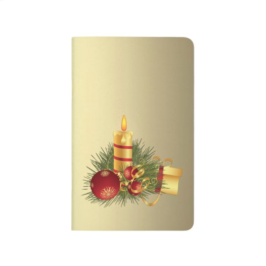 Golden Christmas Candle Journal