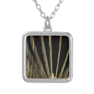 Golden Christmas lights Silver Plated Necklace