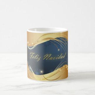 Golden Christmas motive with blue background... Coffee Mug