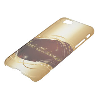 Golden Christmas motive with red background... iPhone 8/7 Case