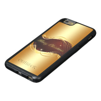 Golden Christmas motive with red background... OtterBox iPhone 6/6s Plus Case