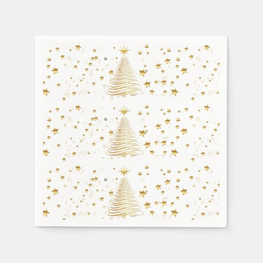 Golden Christmas Set - Cocktail Paper Napkins