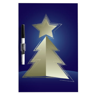 Golden Christmas tree Dry Erase Board