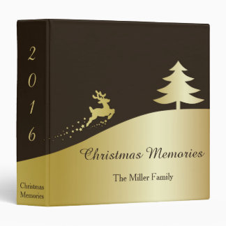 Golden Christmas Tree & Reindeer - Memories Binder