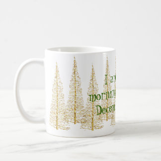 Golden Christmas Trees Morning Person Mug