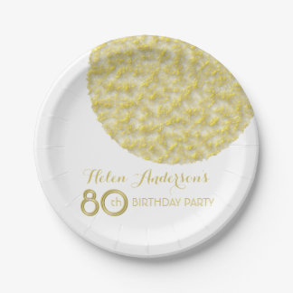 Golden Circle 80th Birthday Party Paper Plates