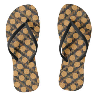 Golden Circle Flip Flops
