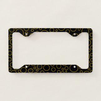 Golden Circles License Plate Frame
