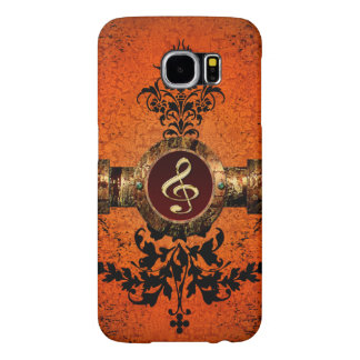 Golden clef on a awesome button samsung galaxy s6 cases