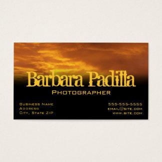 Golden Clouds Profile Card